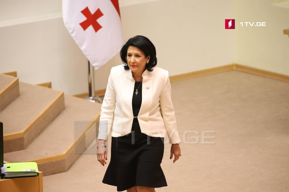 Georgian President delivers annual report today