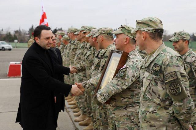 Ираклий Гарибашвили проводил грузинских миротворцев в Центральноафриканскую Республику