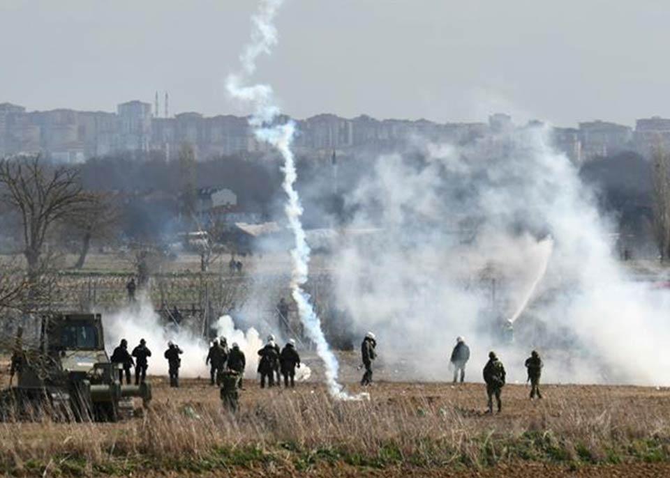 Слезоточивый газ и водометы на греко-турецкой границе