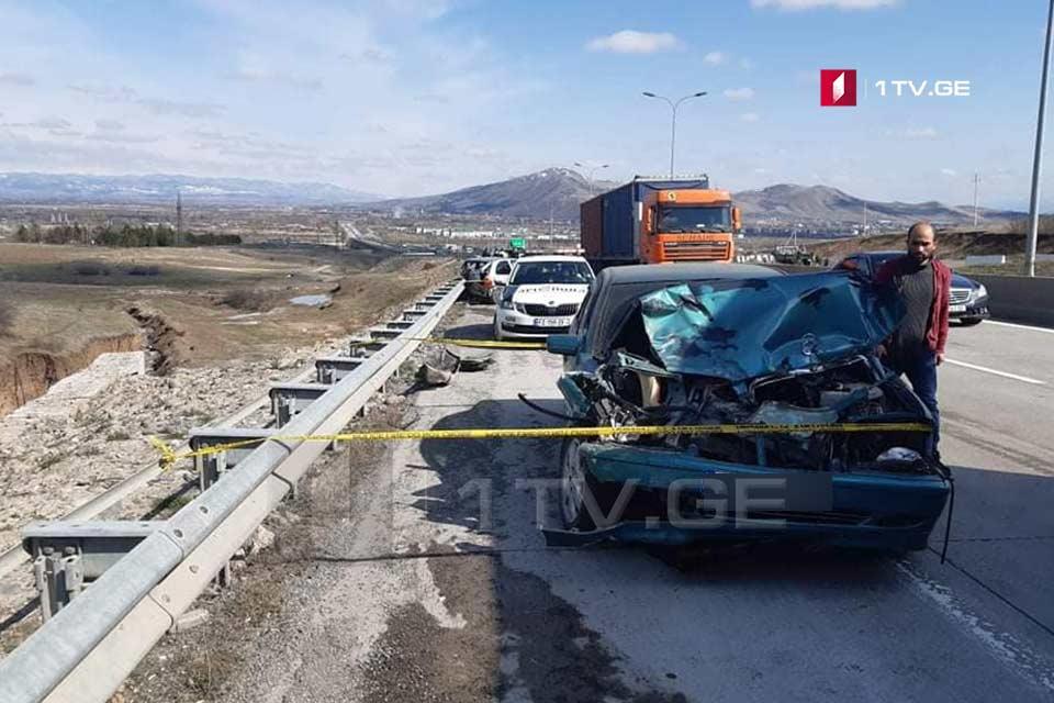 გორთან ავტოსაგზაო შემთხვევა მოხდა