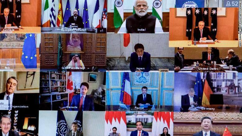 დიდი ოცეულის ლიდერები ვიდეოკონფერენციისას გლობალურ ეკონომიკაში ხუთი ტრილიონი დოლარის ინვესტირებაზე შეთანხმდნენ