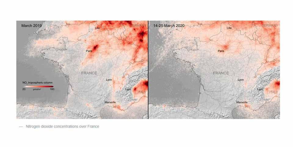 ევროპაში ჰაერის დაბინძურების მაჩვენებელი მკვეთრად შემცირებულია