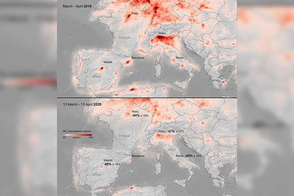 ევროპის კოსმოსური სააგენტო - ევროპაში ჰაერის დაბინძურების დონემ 50 პროცენტით იკლო
