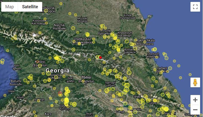 Վրաստանում տեղի է ունեցել երկրաշարժ