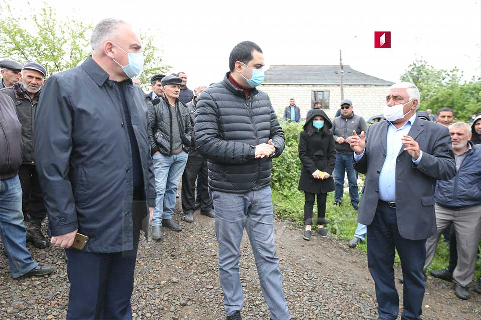 Rallies held in the villages of Marneuli municipality