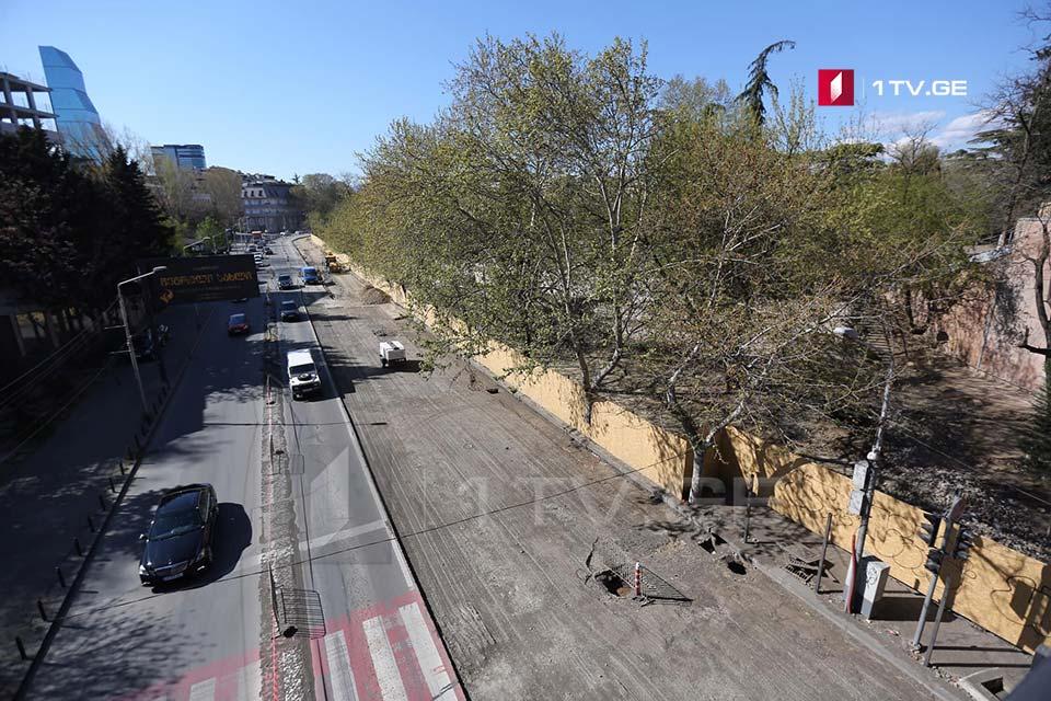 თბილისში, მარჯვენა სანაპიროზე საავტომობილო გზის რეაბილიტაცია სამ კვირაში დასრულდება