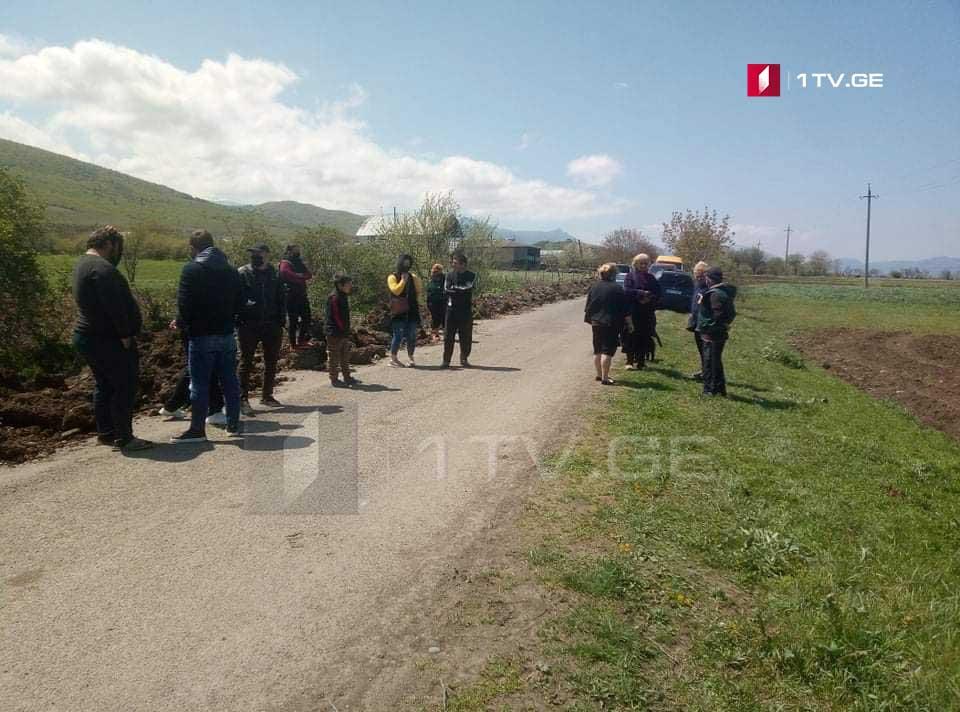 ხაშურის მუნიციპალიტეტის სოფელ მიწობის მოსახლეობამ აქცია გამართა და გზა გადაკეტა
