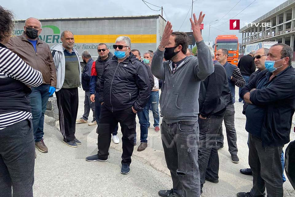 Trucks Drivers hold a protest in Batumi