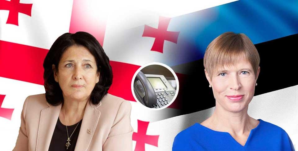 საქართველოსა და ესტონეთის პრეზიდენტებმა კრიზისის შემდგომ ეკონომიკის გახსნის პროცესზე ისაუბრეს