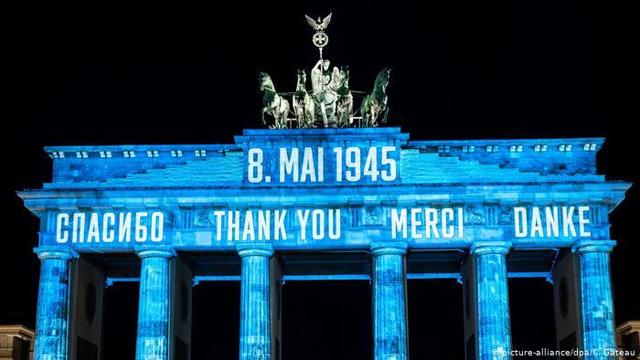 """ბერლინში, ბრანდენბურგის კარიბჭეზე სიტყვა """"მადლობა"""" ოთხ ენაზე აინთო"""