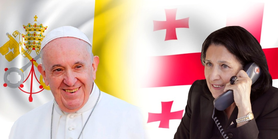 President of Georgia talked to Pope Francis
