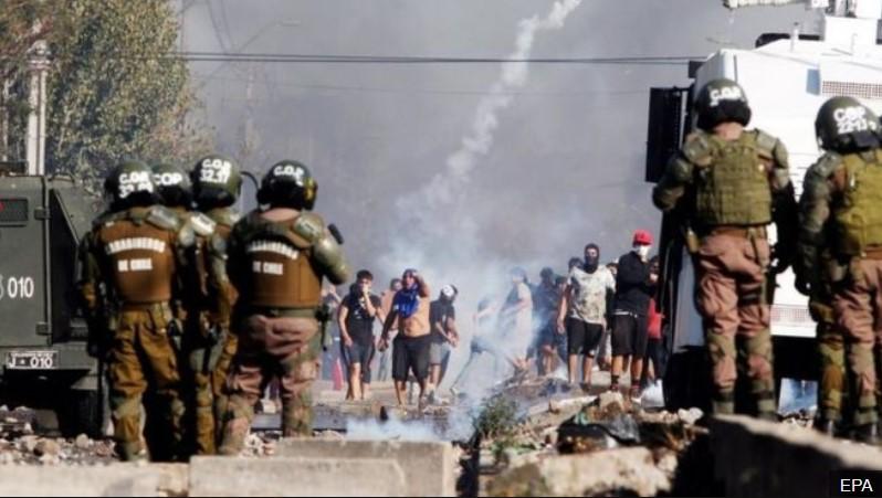 ჩილეში საკარანტინო ზომების მოწინააღმდეგეთა აქცია პოლიციასთან შეტაკებით დასრულდა