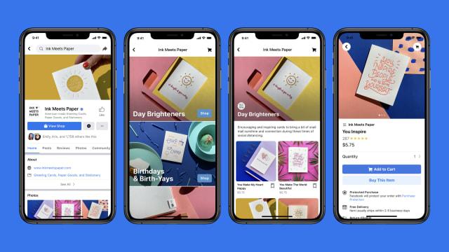 Facebook onlayn-mağaza funksiyasını əlavə edir