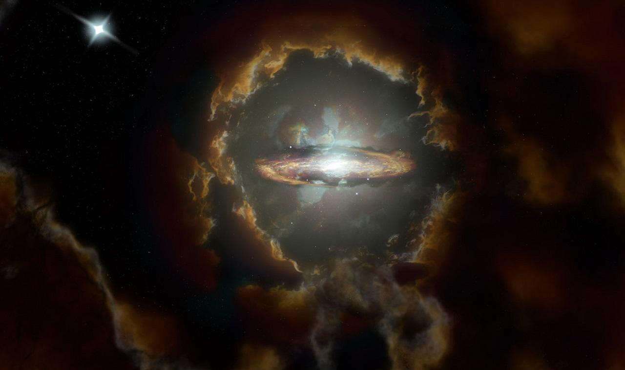 აღმოჩენილია ადრეული სამყაროს უცნაური ფორმის გალაქტიკა, რომელიც გალაქტიკების შესახებ არსებულ წარმოდგენას ცვლის