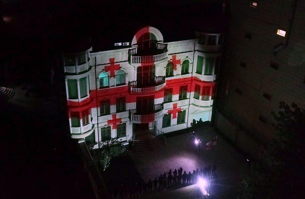 Ադրբեջանում Վրաստանի դեսպանատան վրա պատկերել են Վրաստանի դրոշը