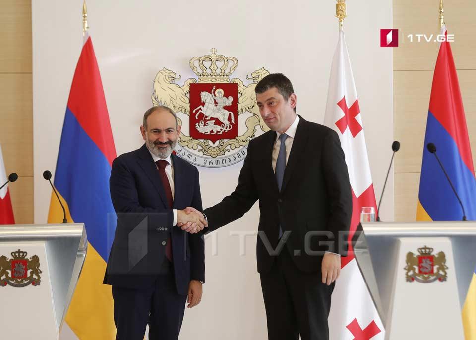 Armenian PM to Giorgi Gakharia - Be sure that Armenia is glad at numerous achievements of friend Georgia