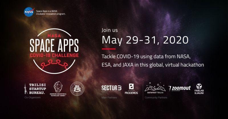 #სახლისკენ - 29-31 მაისს COVID-19 პანდემიასთან დაკავშირებით გლობალური ჰაკათონი NASA Space Apps COVID-19 Challenge ონლაინრეჟიმში გაიმართება