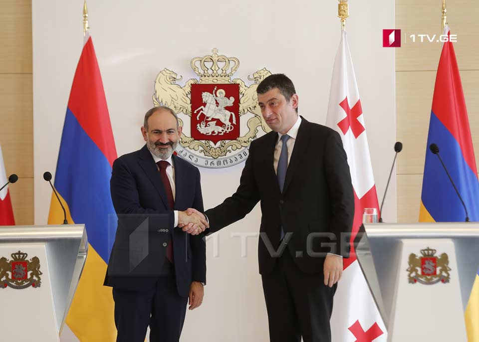 Giorgi Gakharia congratulates Nikol Pashinyan on First Republic Day