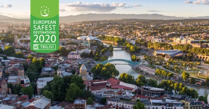 Tbilisi ranks first in the 20Safest Destinations to visit in Europe