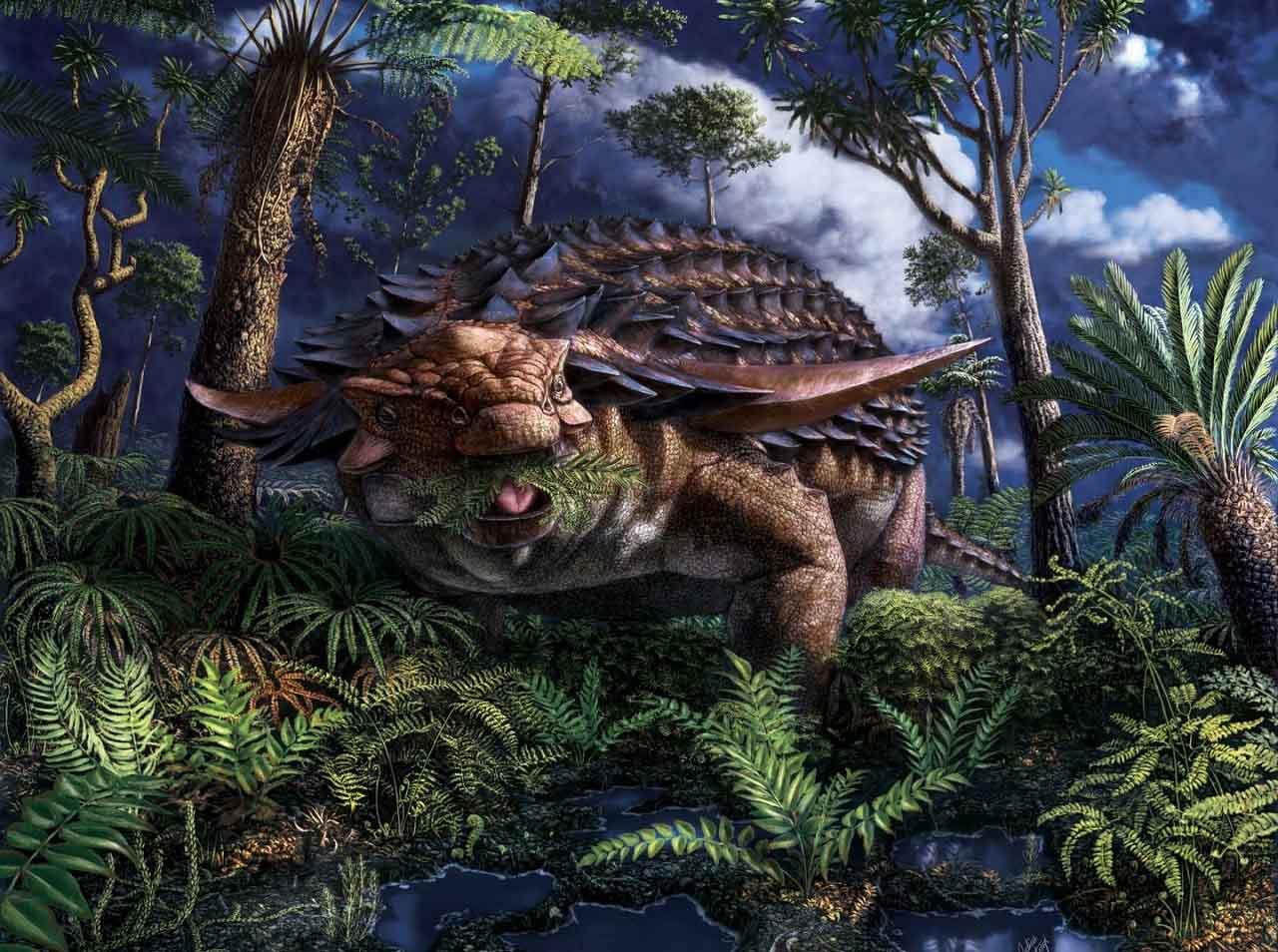 ჯავშნიანი დინოზავრის განმარხებულ კუჭში მისი უკანასკნელი საკვები 110 მლნ წლის შემდეგ აღმოაჩინეს