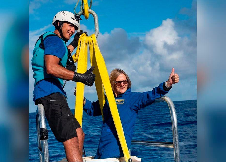 პირველი ამერიკელი ქალი, რომელიც ღია კოსმოსში გავიდა, ამჯერად ოკეანის ყველაზე ღრმა წერტილში ჩავიდა