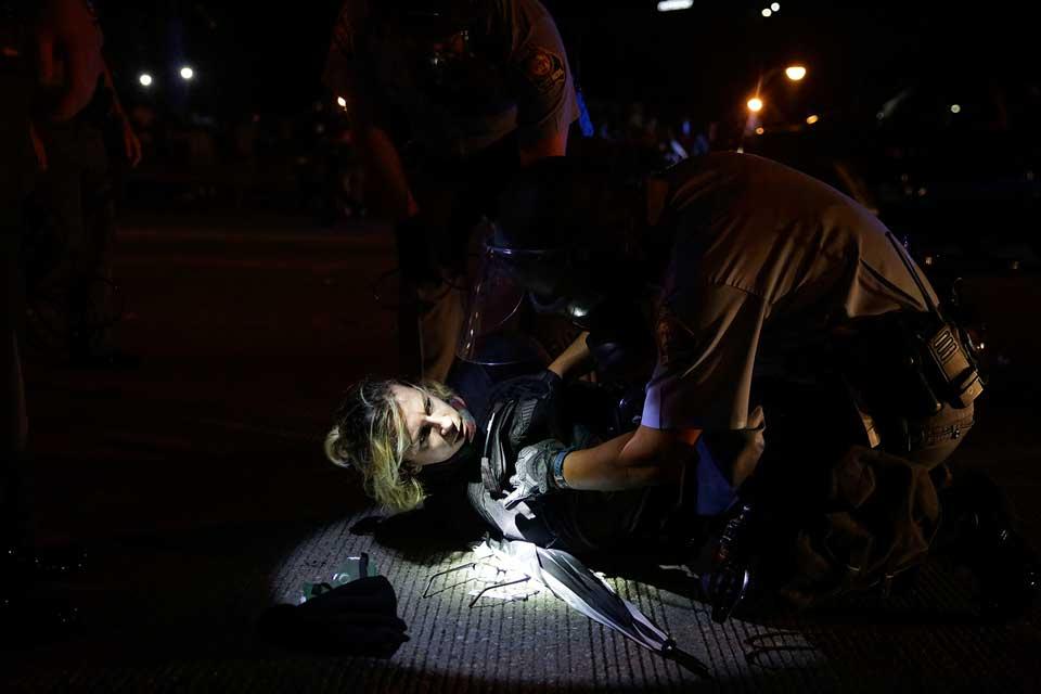 ატლანტაში პოლიციამ აქციის მონაწილეების წინააღმდეგ ცრემლსადენი გაზი გამოიყენა, დაკავებულია 36 დემონსტრანტი