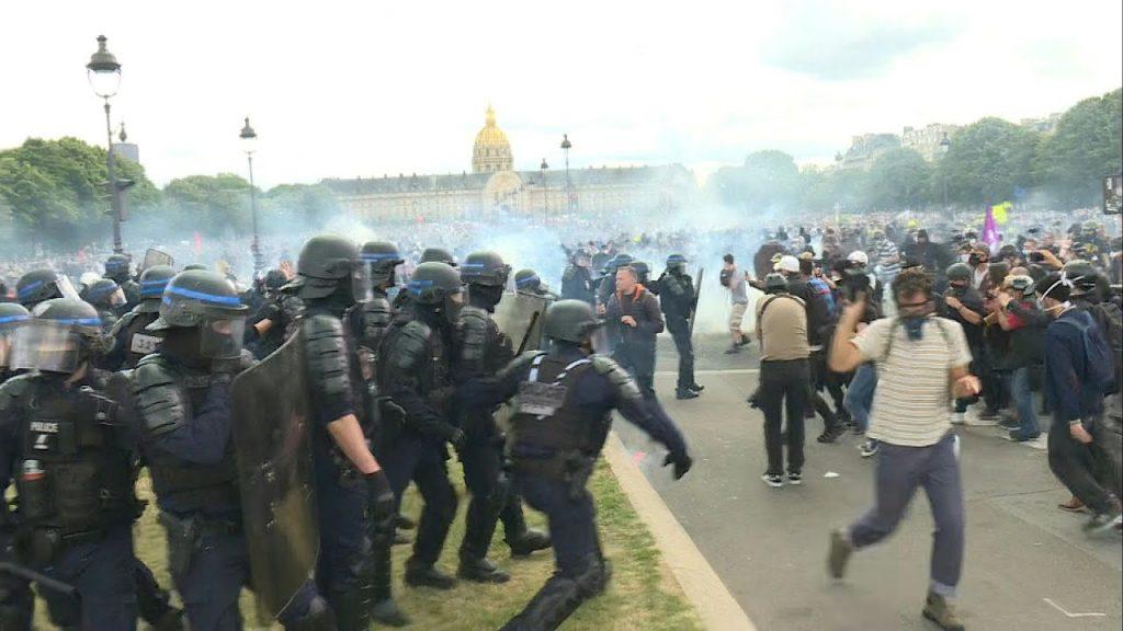 პარიზში მედიკოსების მიერ გამართულ აქციაზე შეტაკება მოხდა
