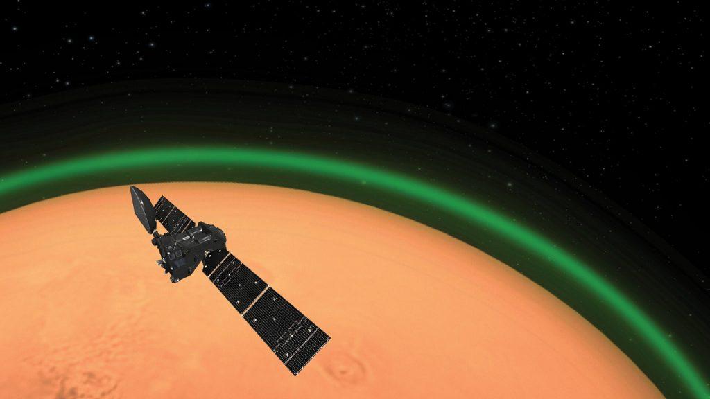 მარსის ატმოსფეროში თვალწარმტაცი მწვანე ნათება დააფიქსირეს