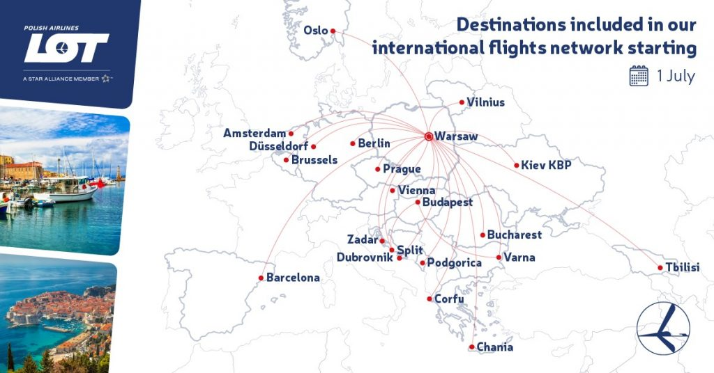 Polish airline Lot to resume flights to more than 20 cities, including Tbilisi