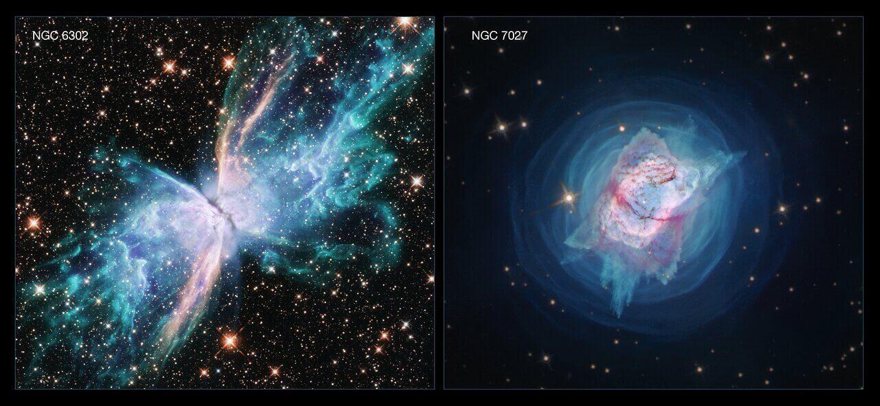 ჰაბლმა ორ შთამბეჭდავ პლანეტურ ნისლეულს ისტორიული ფოტოები გადაუღო