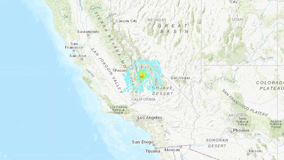 კალიფორნიაში 5.8 მაგნიტუდის სიმძლავრის მიწისძვრა მოხდა