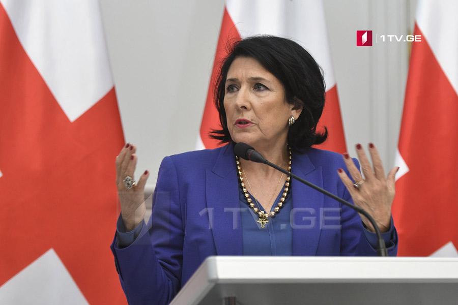 Саломе Зурабишвили - Грузинская армия стоит на верности, преданности и достоинстве к Родине, является и будет надежной силой для наших партнеров