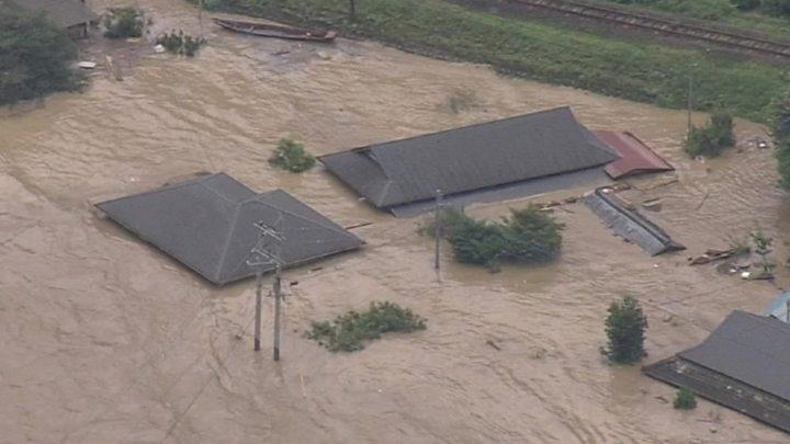 Наводнения в Японии привели к жертвам