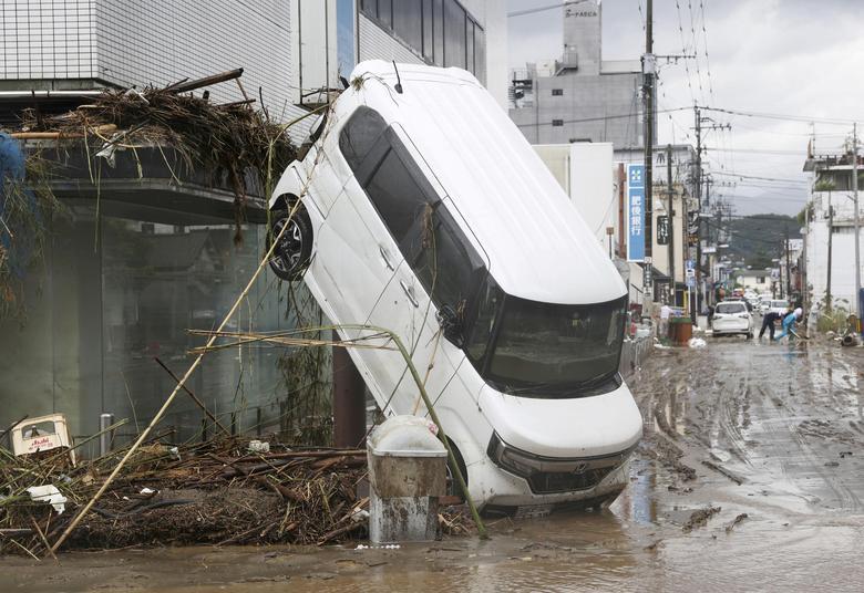 იაპონიაში წყალდიდობის შედეგად დაღუპულთა რიცხვი 44-მდე გაიზარდა