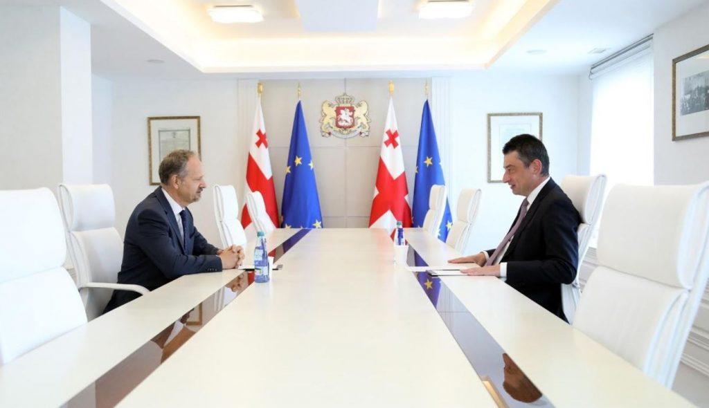 Giorgi Gakharia held Valedictory Meeting with Lithuanian Ambassador to Georgia Giedrius Puodžiūnas
