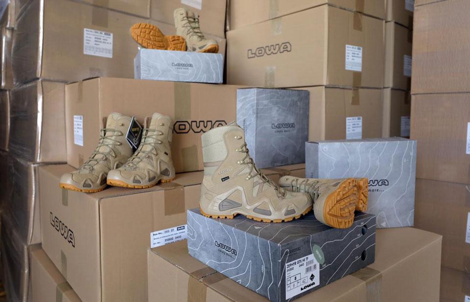საქართველოს თავდაცვის ძალები გერმანული ბრენდის სამხედრო ფეხსაცმლით სრულად აღიჭურვა
