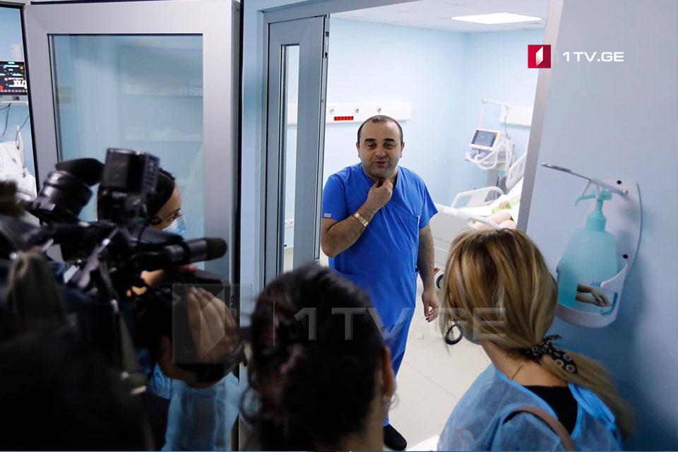 პირველი საუნივერსიტეტო კლინიკა მუშაობის ჩვეულ რეჟიმს დაუბრუნდა - კლინიკაში მედიას უმასპინძლეს [ფოტო]