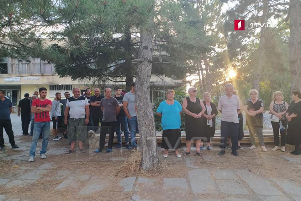 В селе Меджврисхеви прошла акция с требованием освобождения задержанного российскими оккупантами односельчанина Хвичи Мгебришвили