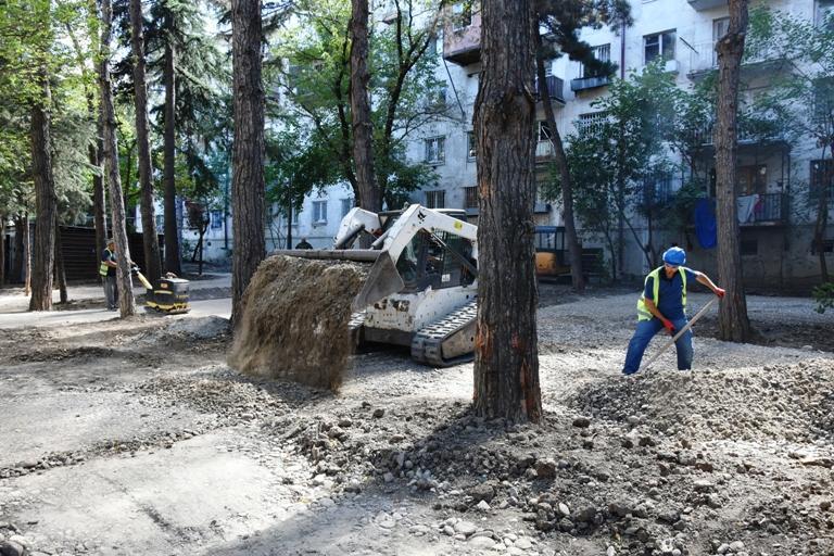 თბილისში, ქავთარაძის ქუჩაზე ახალი დასასვენებელი სივრცე მოეწყობა