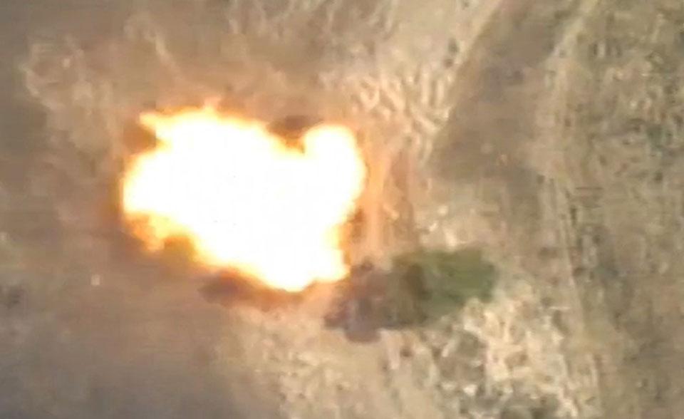 აზერბაიჯანის თავდაცვის სამინისტრო სომხეთის არმიის საავტომობილო ტექნიკისა და ცოცხალი ძალის განადგურების შესახებ იუწყება