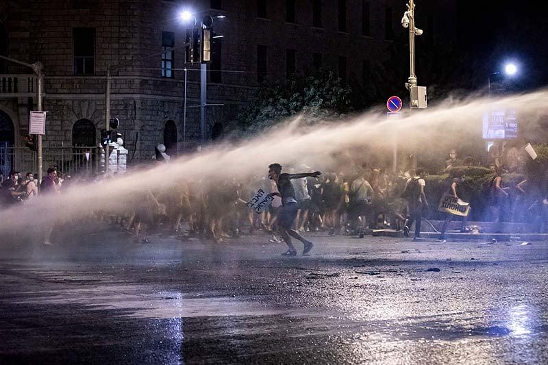 იერუსალიმში ისრაელის პრემიერ-მინისტრის საწინააღდეგო აქცია პოლიციამ დაშალა