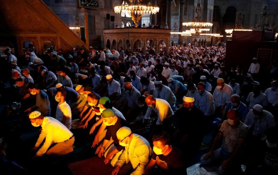 მსოფლიოს ამბები - აია სოფიაში მუსლიმთა ლოცვა შესრულდა