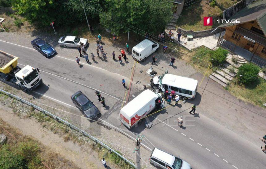 ლიკანთანავტოსაგზაო შემთხვევისას ერთი ადამიანი მძიმედ დაშავდა