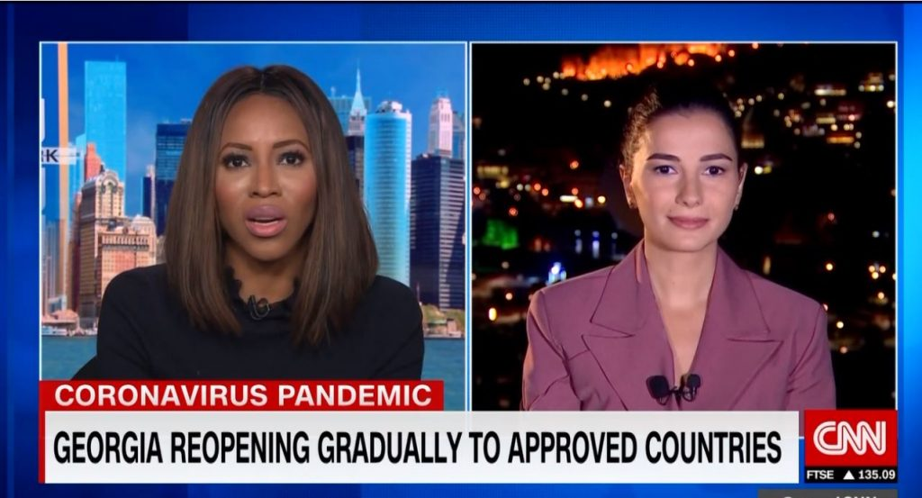 Head of Georgia National Tourism Administration gives interview to CNN on tourism, pandemic