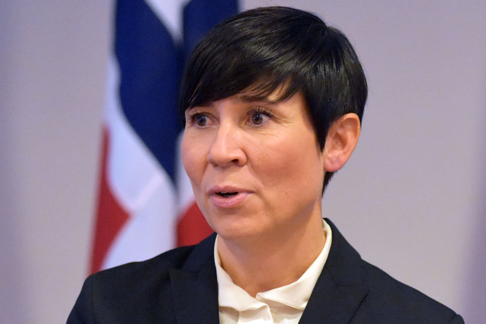 Foreign Minister of Norway – It is up to the Georgian people and their elected leaders to chart their own foreign policy course
