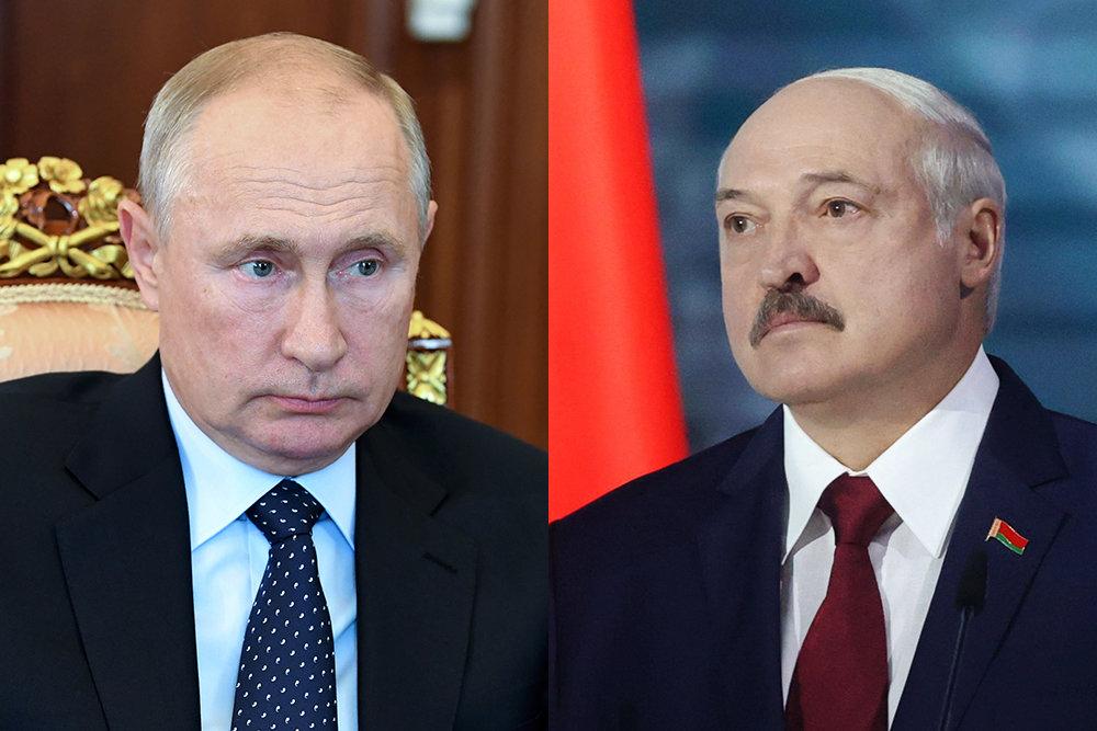 Влaдимир Путини Алексaнд Лукaшенкои Белaрус иҟоу aҭaгылaзaaшьa ҭеллa иaхцәaжәеит