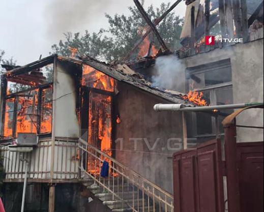 Թեթրիծղարոյում բնակելի տուն է այրվել