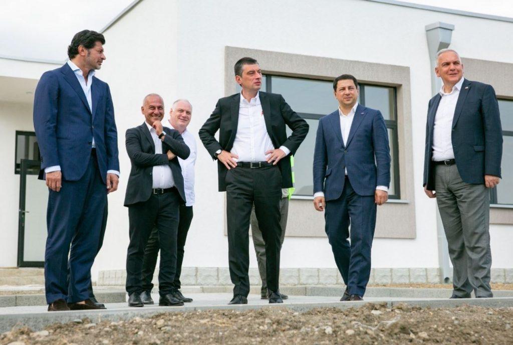 Georgian Dream leaders visit newly built public school in Sagrasheni village