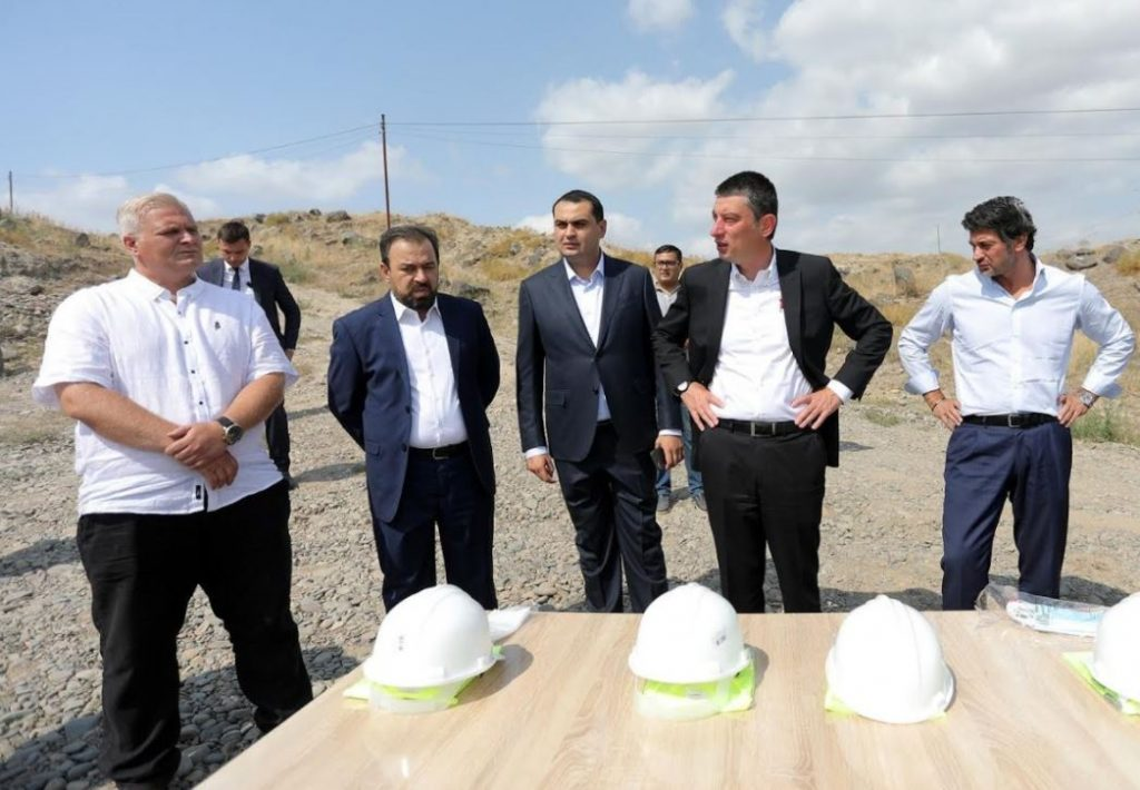 Leaders of Georgian Dream became introduced with construction of water supply system in Marneuli