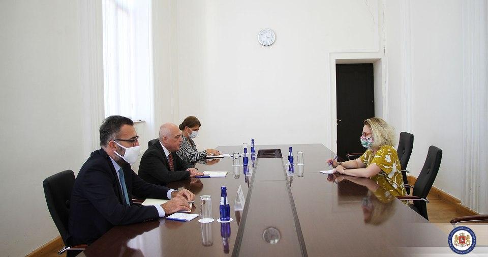 დავით ზალკალიანი თბილისში ევროპის საბჭოს ოფისის ახალ ხელმძღვანელს შეხვდა